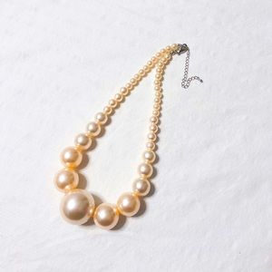 Pearl Strand Graduated Beaded Statement Necklace